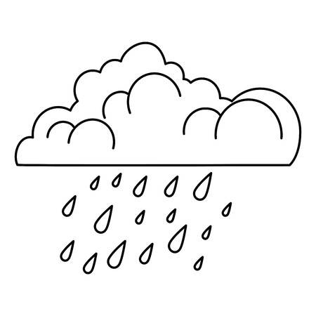 cloud with rain drops vector illustration design Illustration