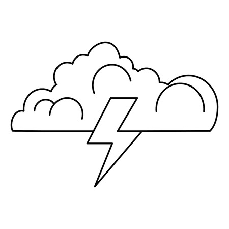 cloud with thunder ray vector illustration design