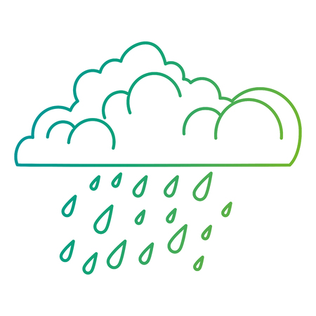 cloud with rain drops vector illustration design Çizim