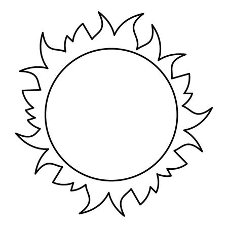 Stern-Sonnenraumikonen-Vektorillustrationsentwurf Vektorgrafik