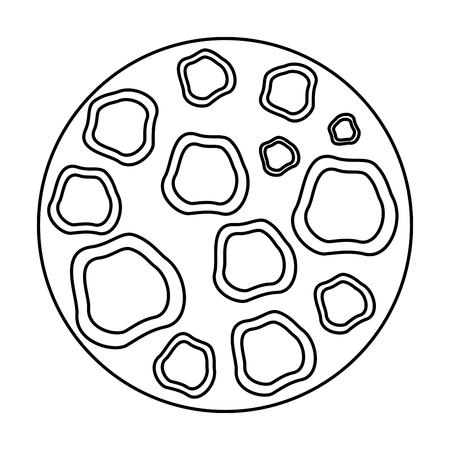 moon satellite space icon vector illustration design Banque d'images - 106608804