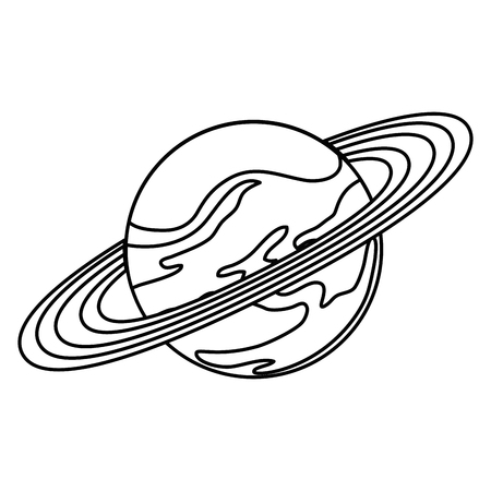 universe planet saturn space icon vector illustration design Illustration