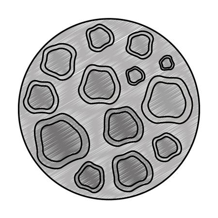 moon satellite space icon vector illustration design