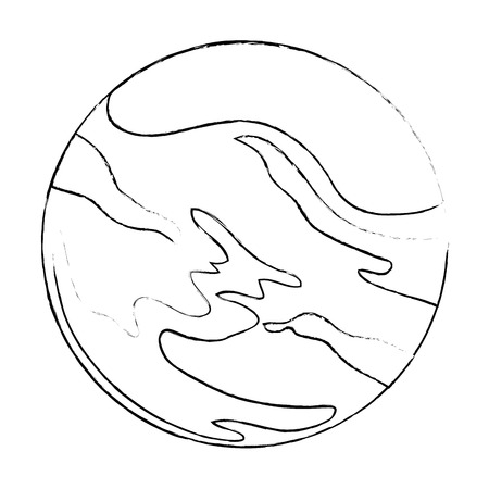 universe planet space icon vector illustration design