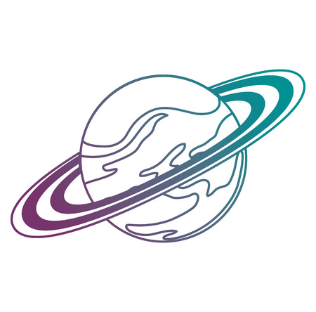 universe planet saturn space icon vector illustration design Ilustrace