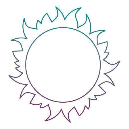 Diseño del ejemplo del vector del icono del espacio del sol de la estrella Ilustración de vector