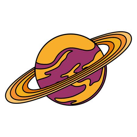 universe planet saturn space icon vector illustration design 向量圖像