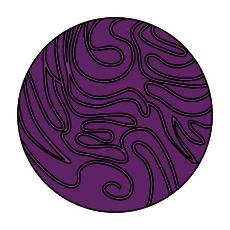 universe planet space icon vector illustration design