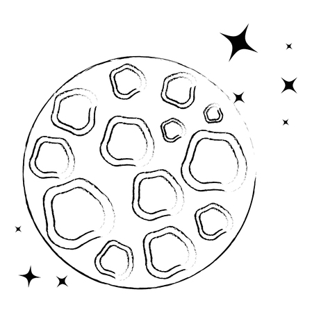 moon satellite space icon vector illustration design