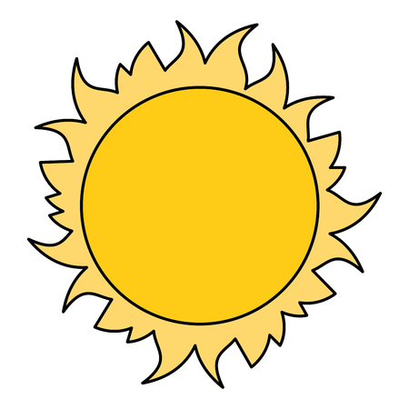 Stern-Sonnenraumikonen-Vektorillustrationsentwurf