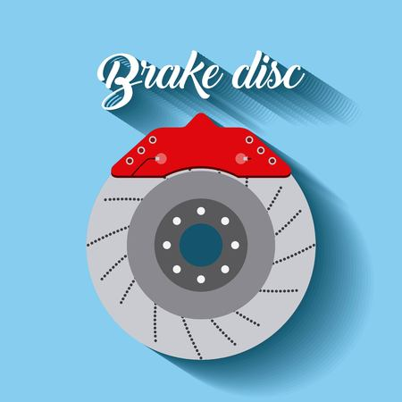 automotive industry brake disc auto part vector illustration Ilustração