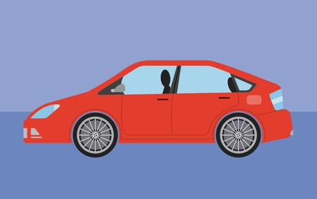 car vehicle sedan automobile transport vector illustration