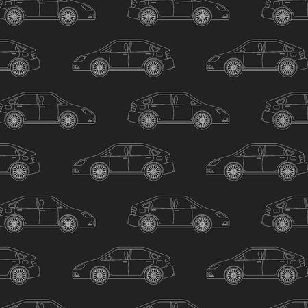 automotive industry cars sedan vehicle dark background pattern vector illustration