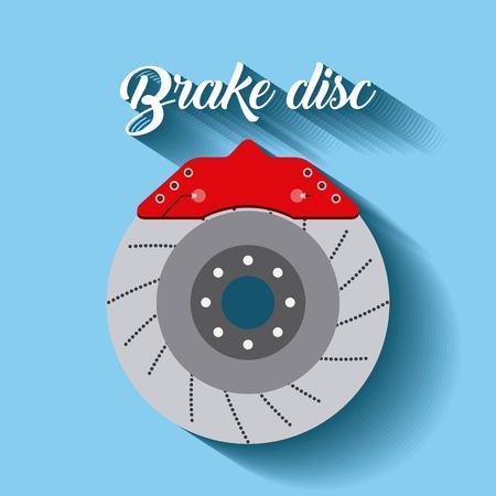 automotive industry brake disc auto part vector illustration Illustration