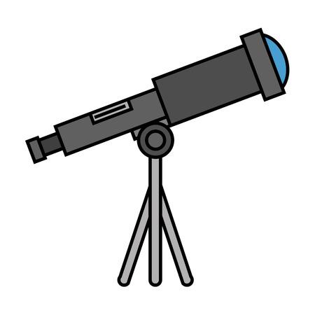 progettazione dell'illustrazione di vettore dell'icona isolata dispositivo del telescopio