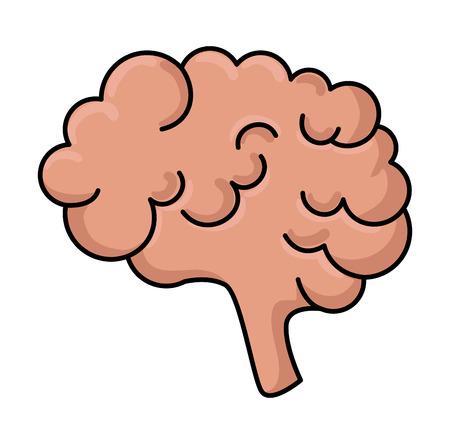 brain storm isolated icon vector illustration design Çizim