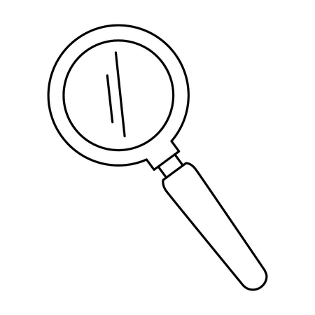 search magnifying glass icon vector illustration design Stok Fotoğraf - 111861072