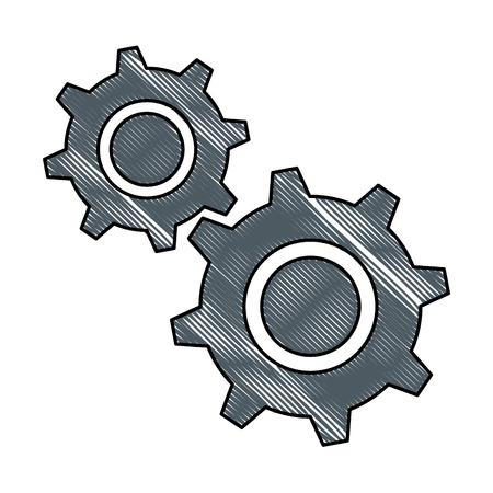 gears machinery isolated icon vector illustration design Ilustracja