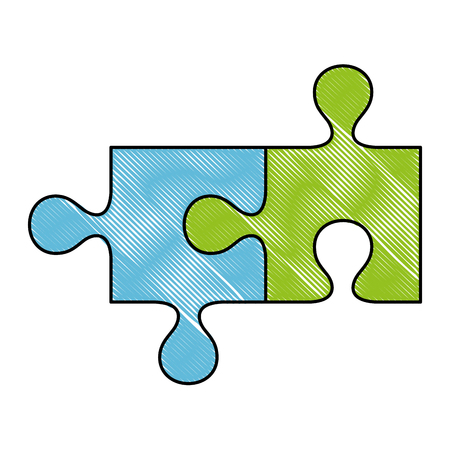 puzzle game pieces icon vector illustration design