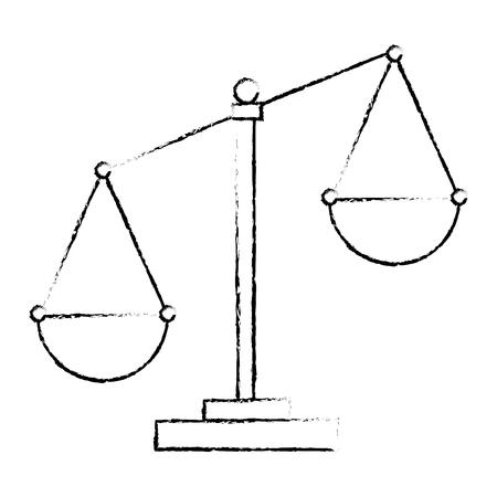 Progettazione dell'illustrazione di vettore dell'icona isolata scala della giustizia