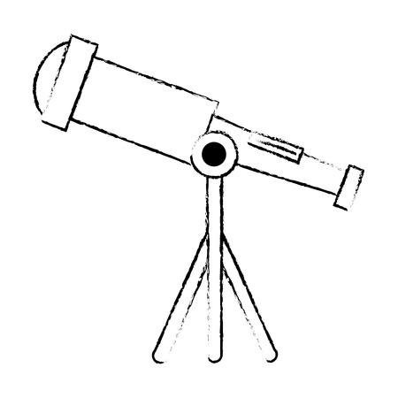 telescope device isolated icon vector illustration design Stockfoto - 111861162