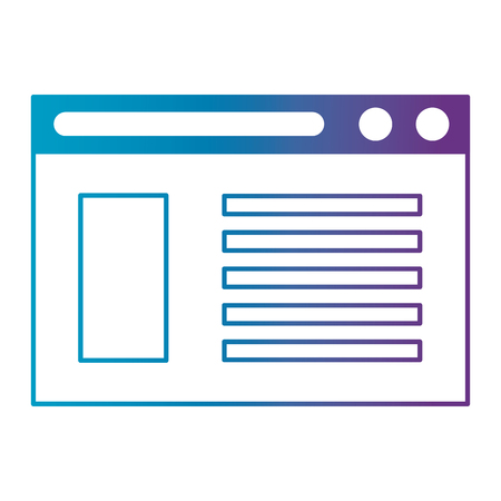 webpage template isolated icon vector illustration design