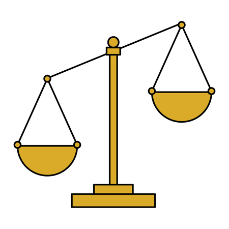 justice scale isolated icon vector illustration design Stock Vector - 106736735