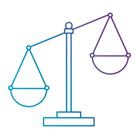 justice scale isolated icon vector illustration design Stock Vector - 106738399