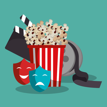 pop corn cinema enterainment vector illustration design