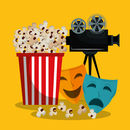 pop corn cinema enterainment vector illustration design Stok Fotoğraf - 106750419