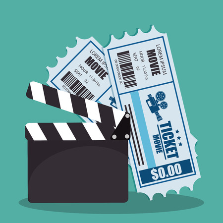 clapper cinema production icons vector illustration design 版權商用圖片 - 111861331