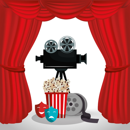 video camera cinema icons vector illustration design 向量圖像