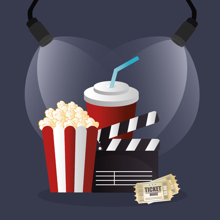 cinema food with film icons vector illustration design Иллюстрация