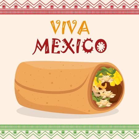 burrito mexican traditional icons vector illustration design Vettoriali