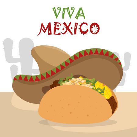 burrito messicano icone tradizionali illustrazione vettoriale design Vettoriali