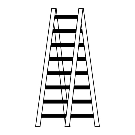 double ladder equipment tool icon vector illustration