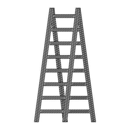 double ladder equipment tool icon vector illustration 스톡 콘텐츠 - 111864937