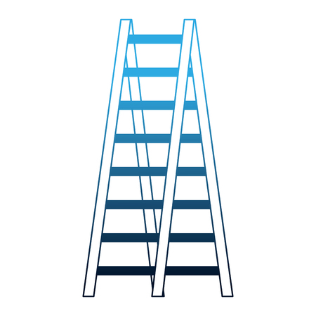 double ladder equipment tool icon vector illustration neon