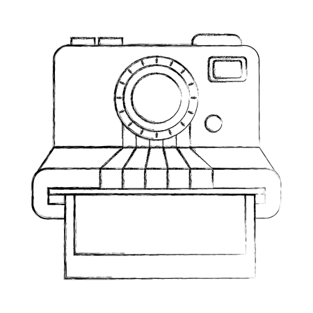 vintage hipster instant photo card vector illustration hand drawing