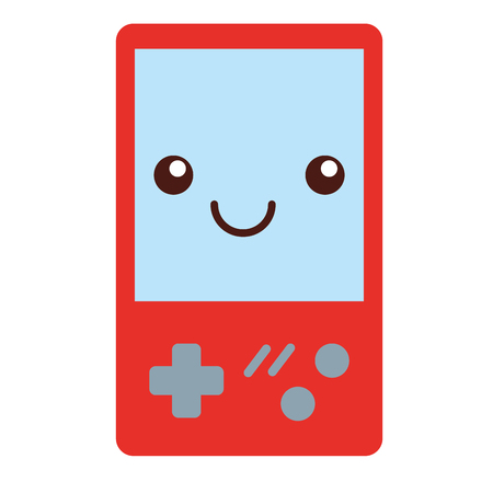 video game console cartoon vector illustration Illustration