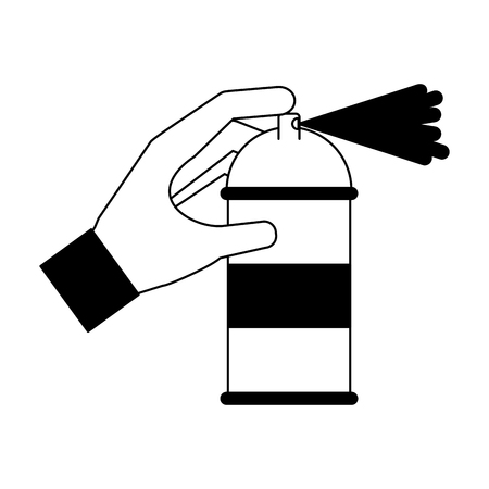 spray canister in the hand creative vector illustration Banque d'images - 111865039