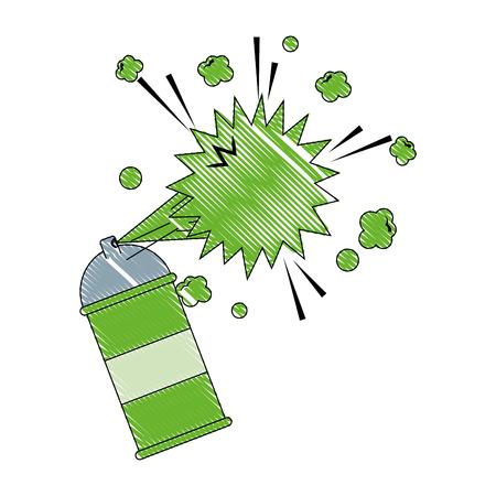 spray canister paint artistic creativity vector illustration Ilustrace