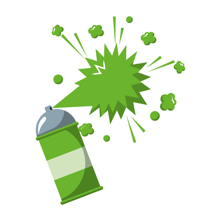 spray canister paint artistic creativity vector illustration Vectores