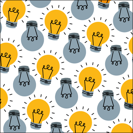 light bulbs energy electricity pattern vector illustration 向量圖像