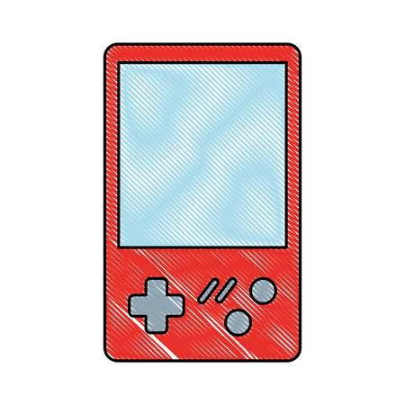 retro video game console portable vector illustration