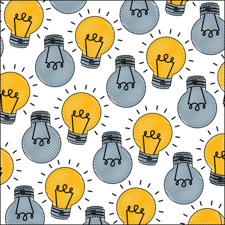 light bulbs energy electricity pattern vector illustration 일러스트