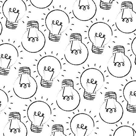 light bulbs energy electricity pattern vector illustration hand drawing 向量圖像
