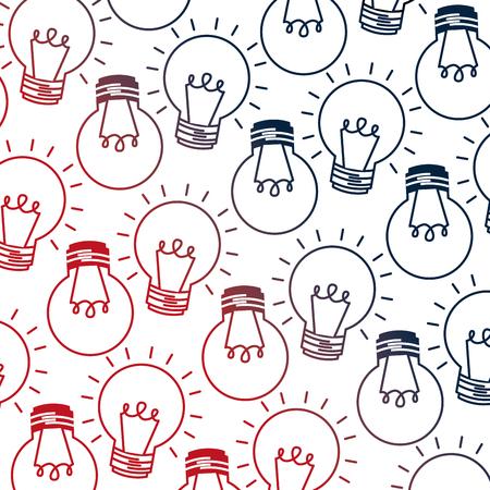 light bulbs energy electricity pattern vector illustration neon image
