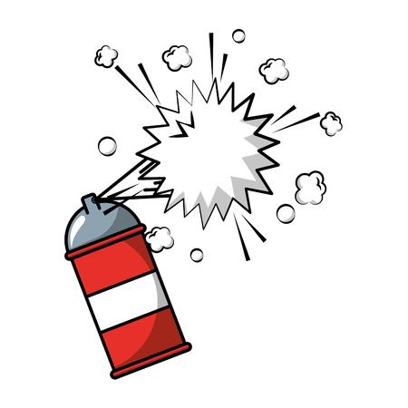 bombe aérosol peinture créativité artistique vector illustration