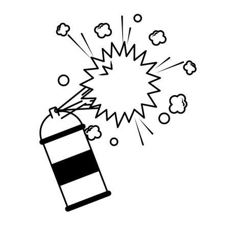 spray canister paint artistic creativity vector illustration 向量圖像